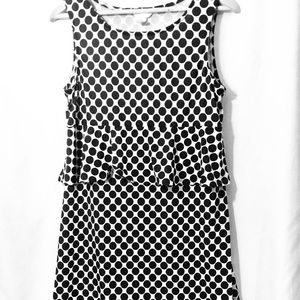 Three Seasons Maternity black and white dress